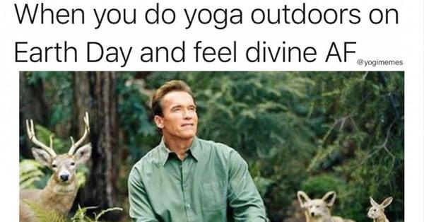 yoga earth day memes
