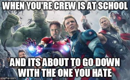 avengers crew meme