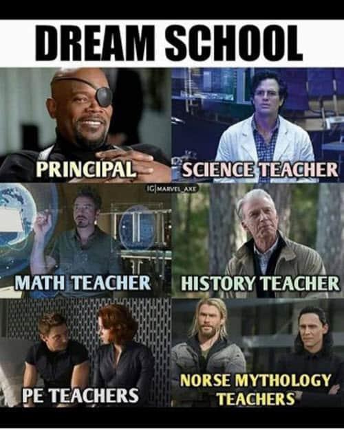 avengers dream school meme