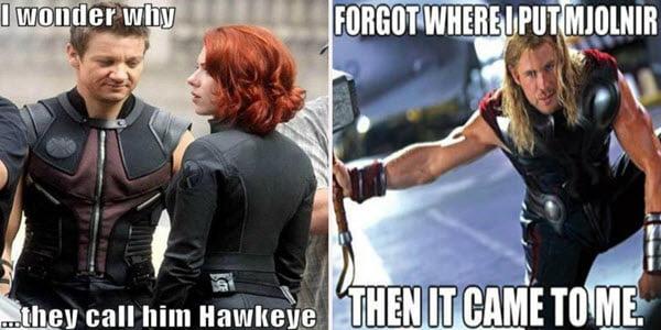 avengers hawkeye meme