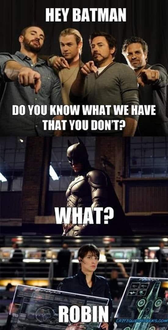 avengers hey batman meme