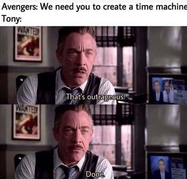 avengers time machine meme