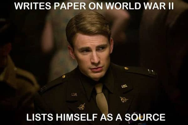 avengers writes paper meme