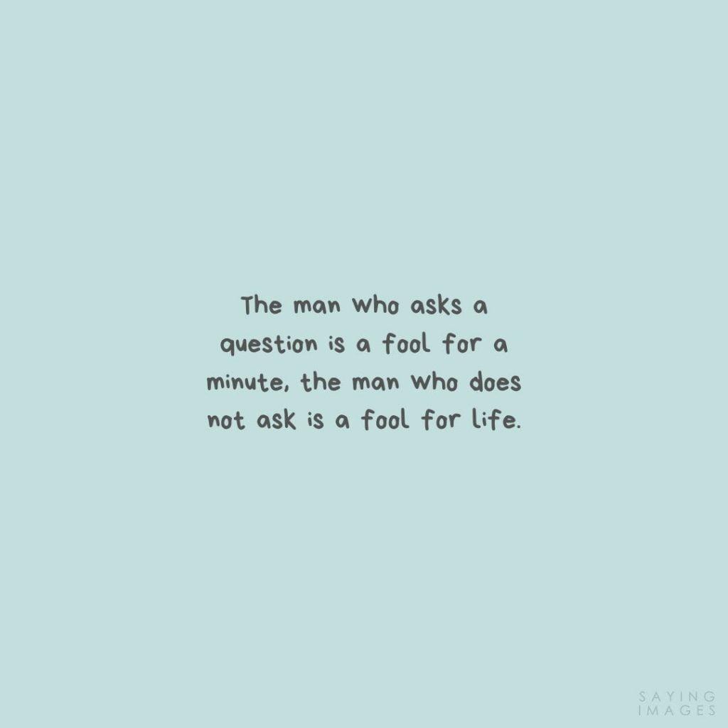 confucius fool quotes