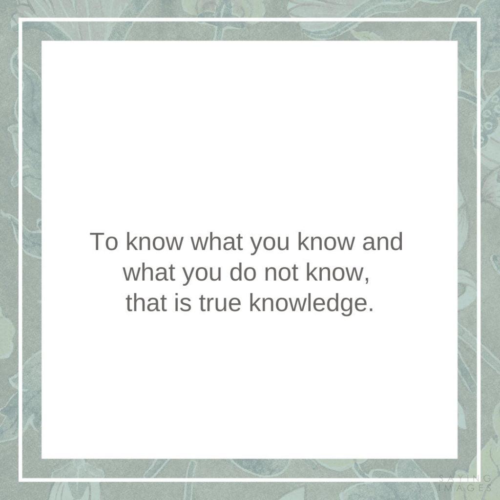 confucius knowledge quotes