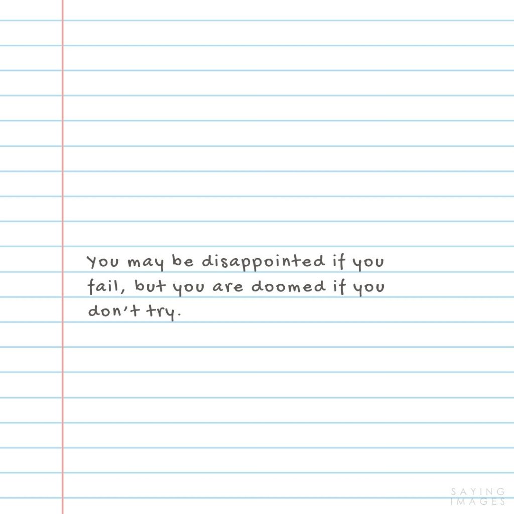 fear of failure disappointed quotes
