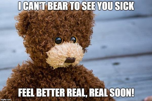 feel better cant bear meme