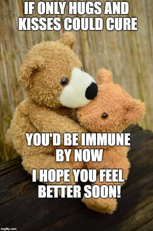 feel better hugs and kisses meme