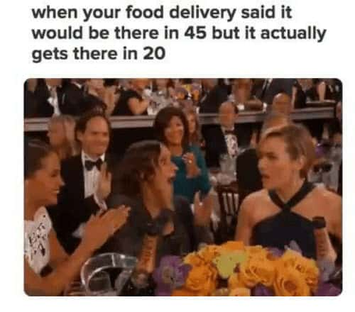 food delivery fast memes