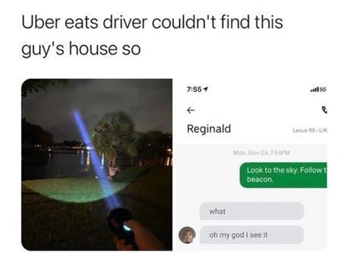 food delivery memes beacon