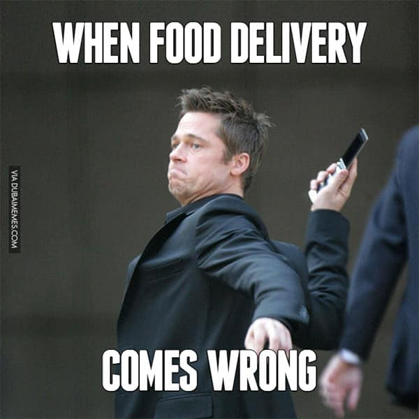 food delivery memes comes wrong