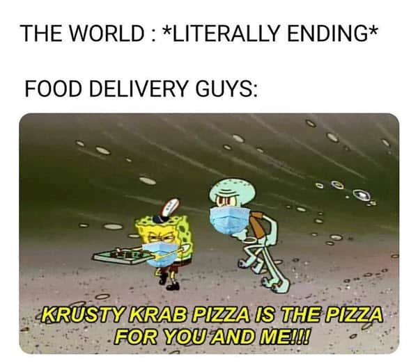 food delivery memes end of the world