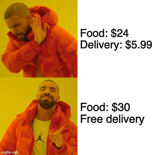 food delivery memes free delivery