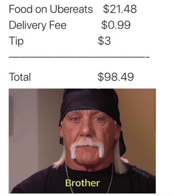 food delivery uber eats memes