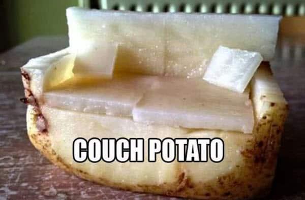 potato couch meme
