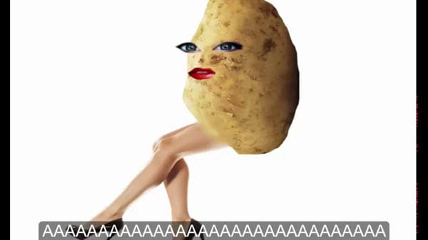 potato legs meme