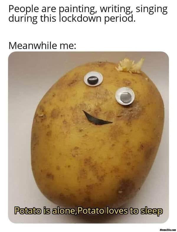 potato lockdown period meme