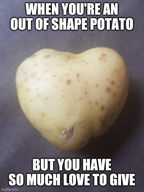 potato out of shape meme