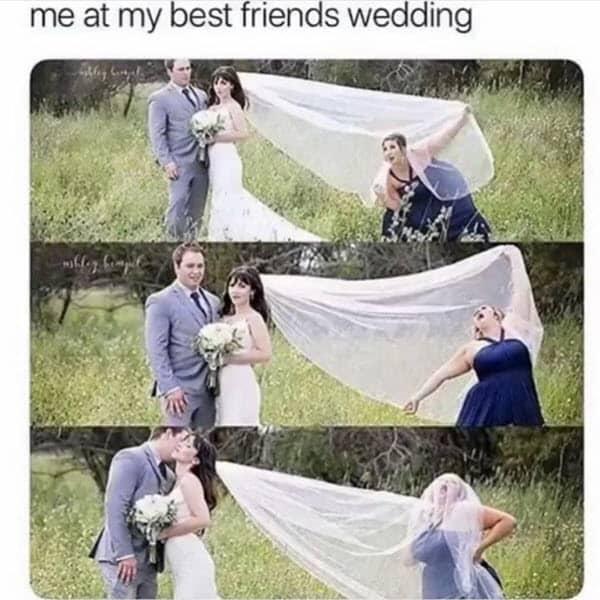 wedding bestfriend meme