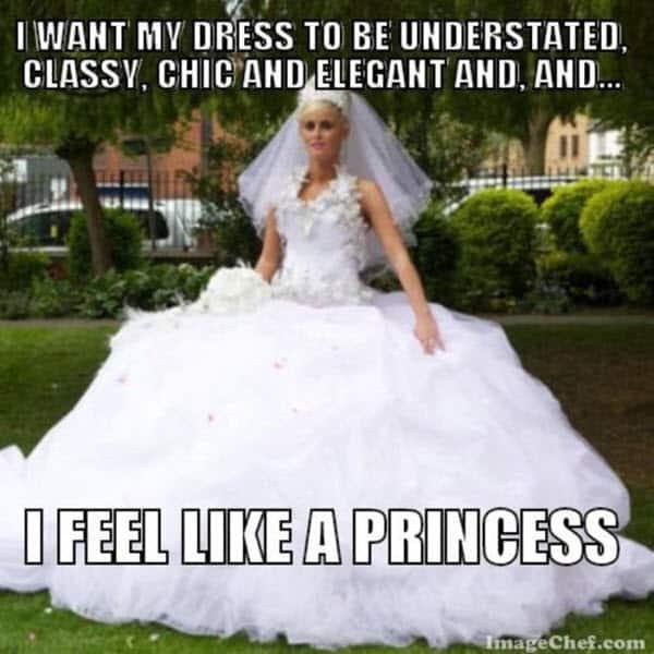 wedding dress meme