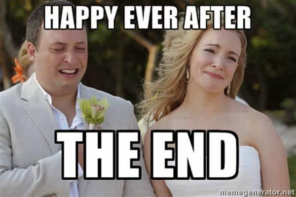 wedding happy ever after meme