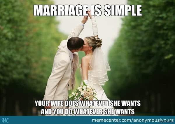 wedding marriage is simple meme