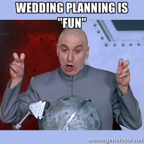 wedding planning meme