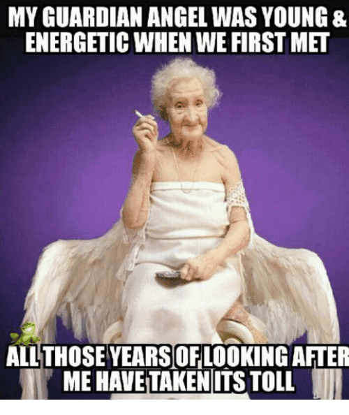 All those years taking care of me Angel Meme