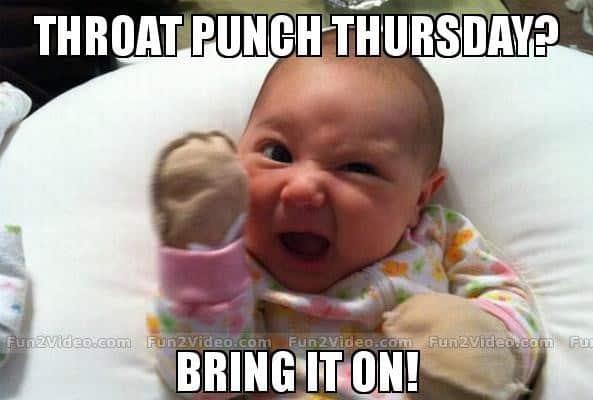 Bring it on Throat punch Meme