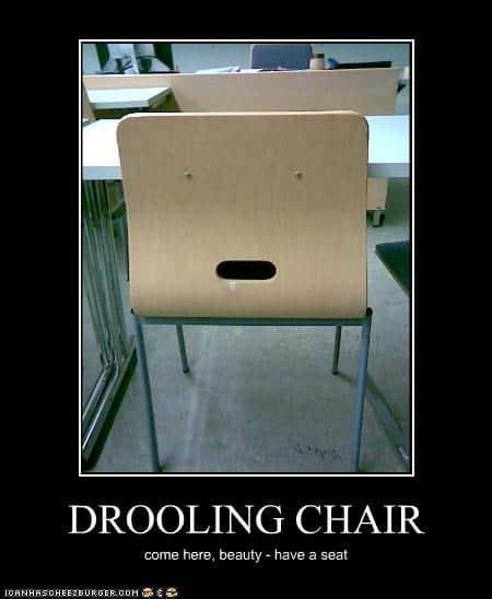Chair Drooling Meme