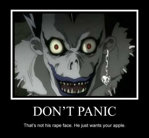 Dont panic Death note Meme