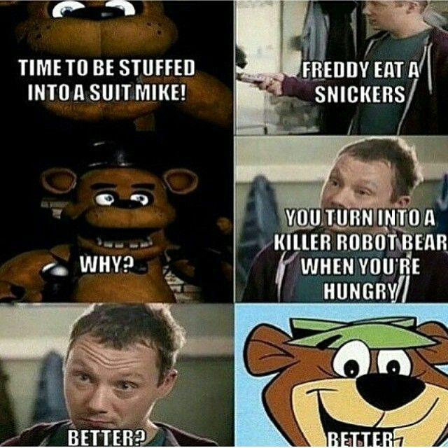 Freddy Eat a snicker Meme