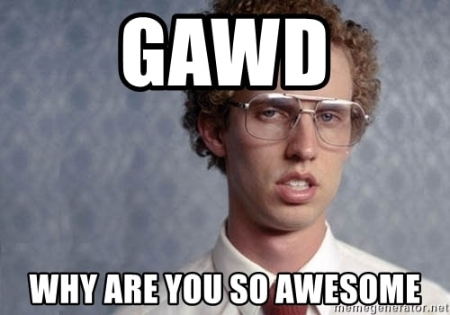 Gawd You are awesome Meme