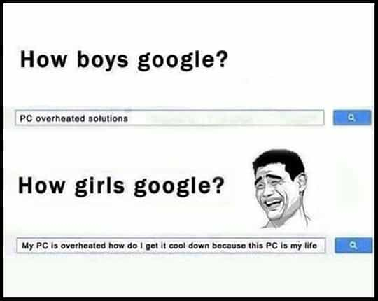 How boys google Google Meme