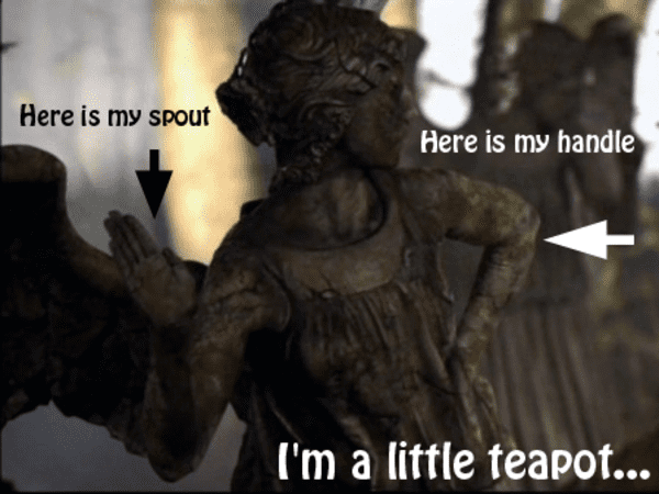 I am a little teapot Angel Meme