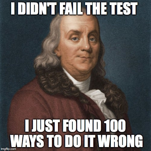 I did not failed Test Meme