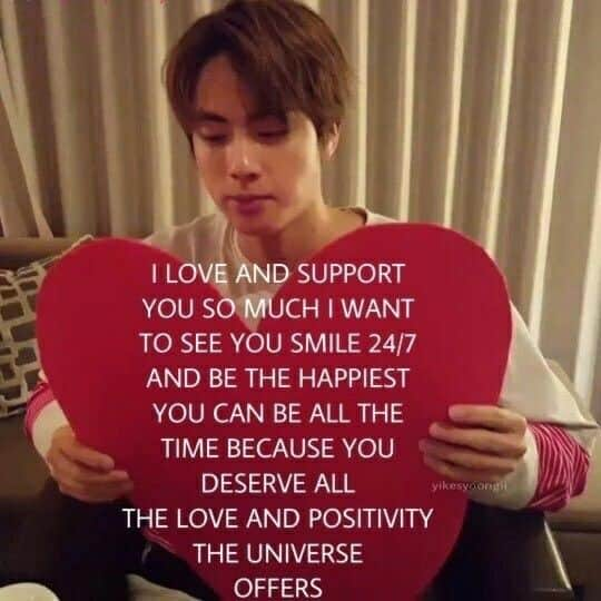 I love and support you BTS Meme