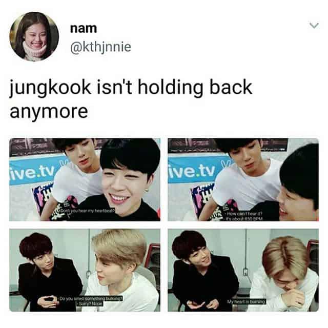Jungkook isn't holding back Flirty Meme