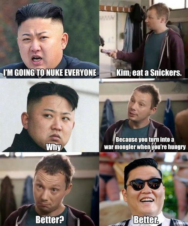Kim jong un Eat a snicker Meme