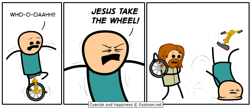Literally Jesus take the wheel Meme