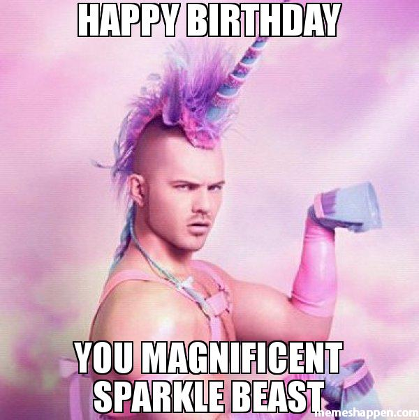 Magnificent Sparkling Inappropriate birthday Meme