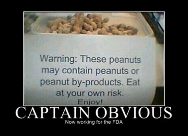 Now working with fda Captain obvious Meme