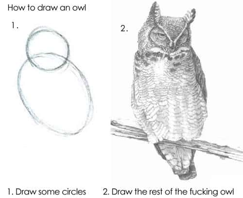 Owl Drawing Meme