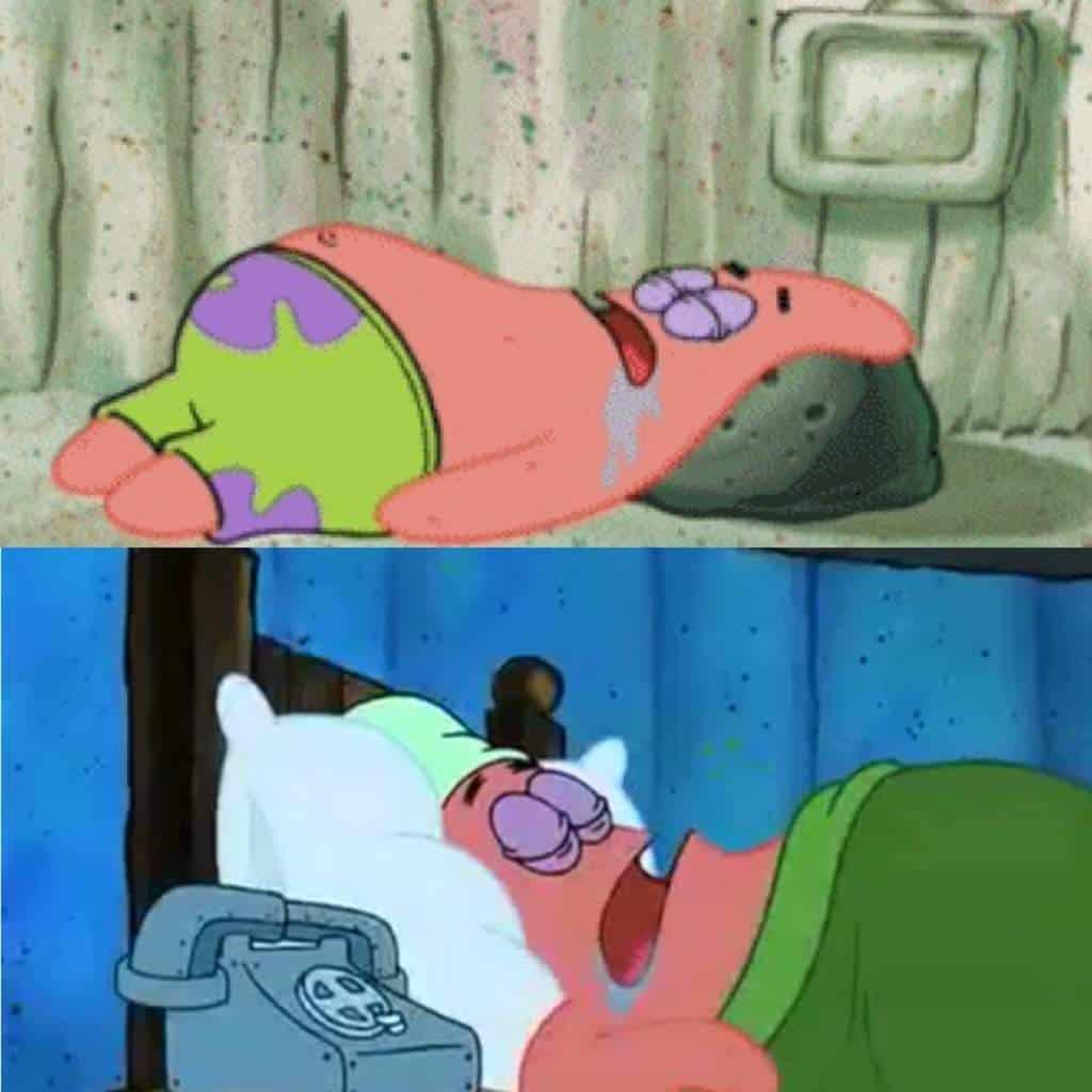 Patrick star Drooling Meme
