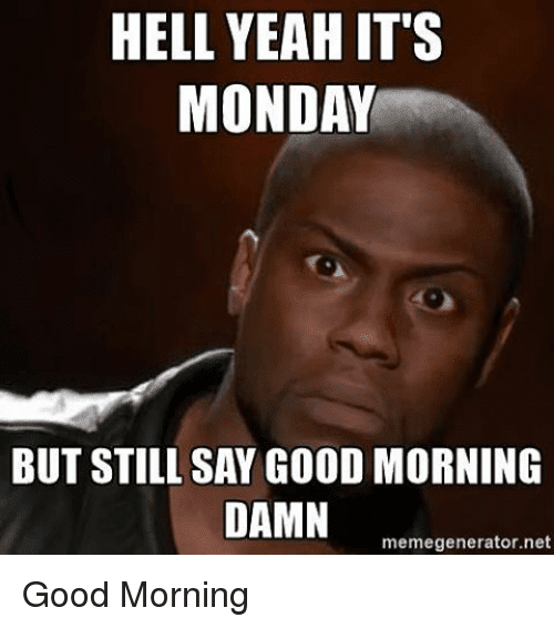 Good Morning All Meme : It s monday memes for the start of week