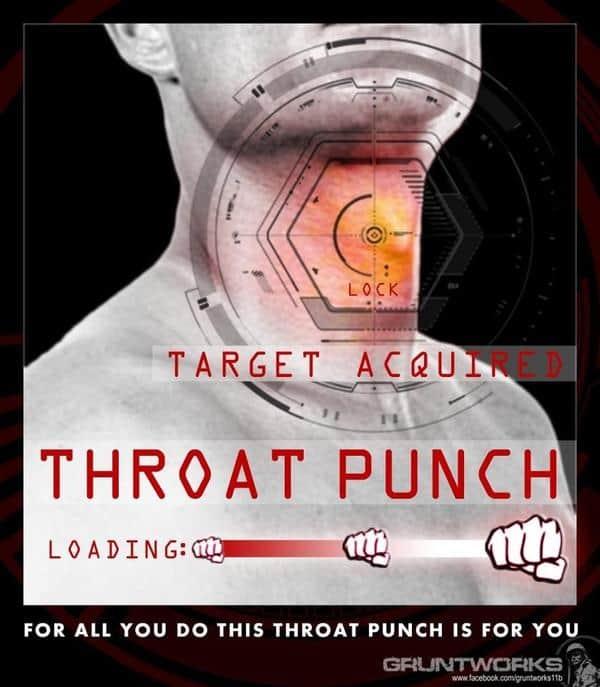 Target locked Throat punch Meme