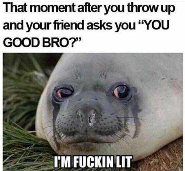 That moment your friend asks Vomit Meme