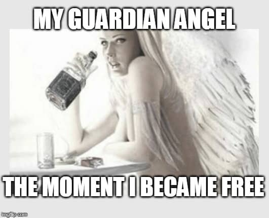 The moment i became free Angel Meme