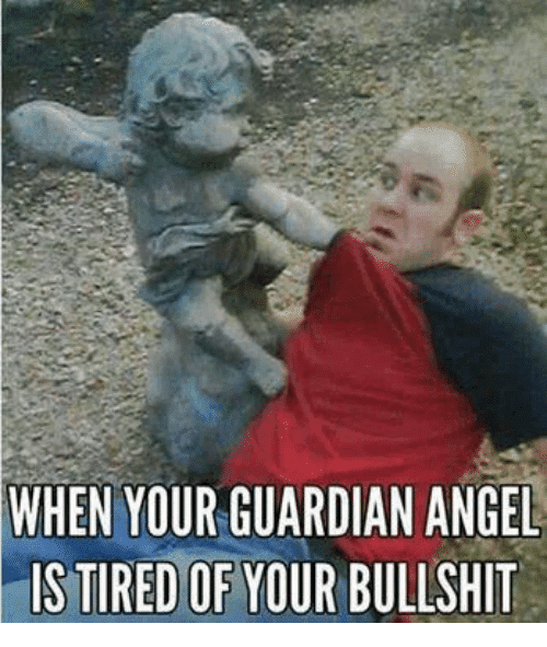 Tired of your bullshit Angel Meme