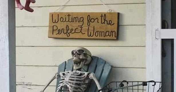 Waiting for a Perfect Woman Skeleton Meme